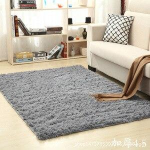 Image 5 - Arredamento Per la casa Ispessimento acqua lavata di seta di lana antiscivolo capelli lunghi tappeto soggiorno sala da tè da comodino yoga mat personalizzato grossisti