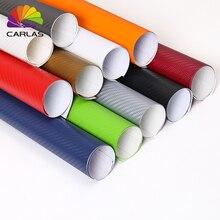 30cmx100cm 3D Carbon Fiber Vinyl Car Wrap Sheet Roll Film Ca