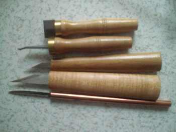 5 PCs Wood Working Luthier tools Knifes, bridge repair knife, inlay tool scraper