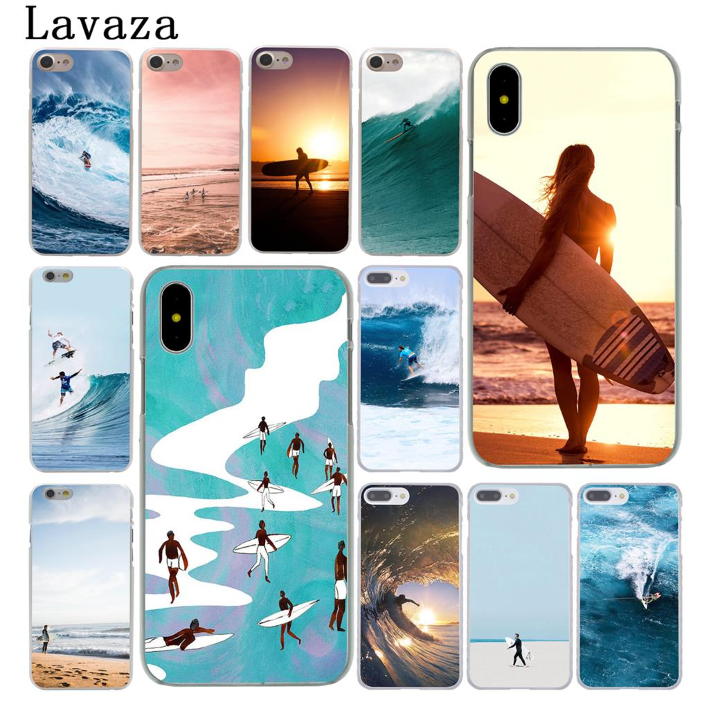 Lavaza Sandy Beach Sea surf ocean spray Hard Case Shell for Apple iPhone 6 6s 7 8 Plus 4 4S 5 5S SE 5C for iPhone XS Max XR Case iphone