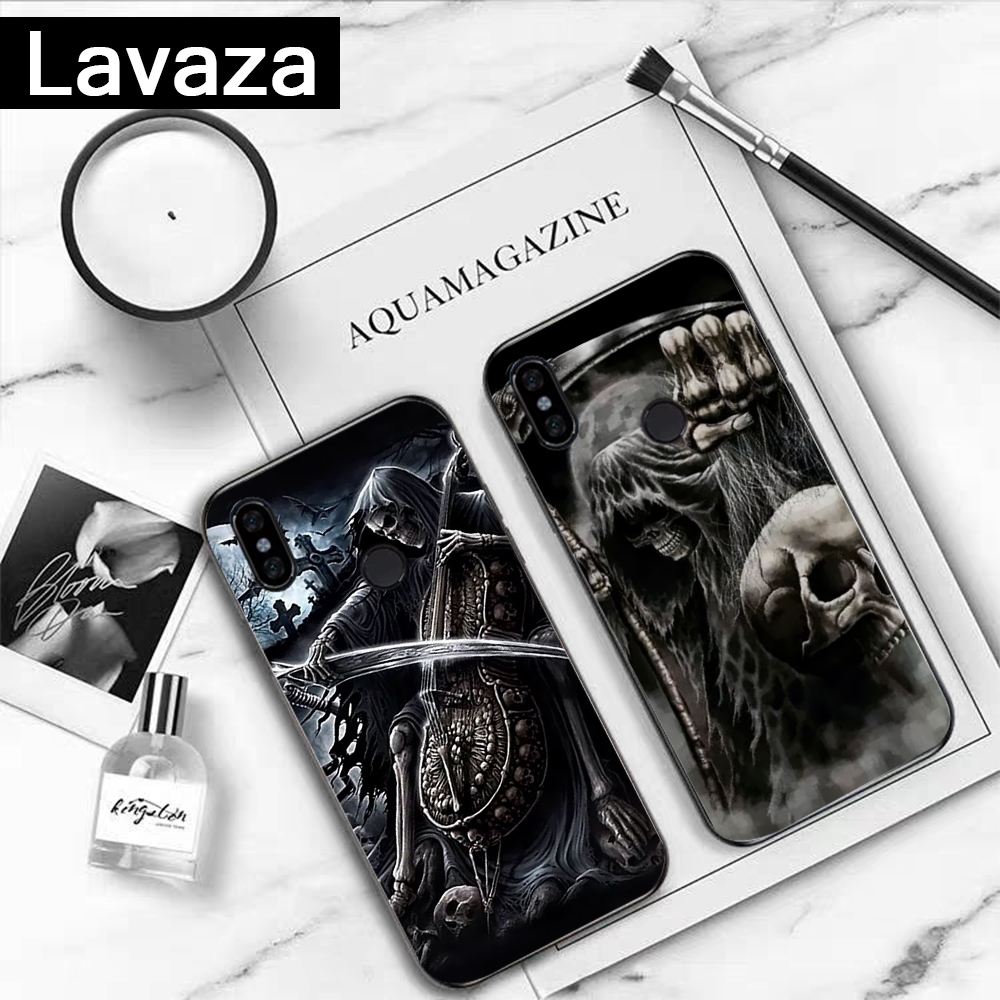 Lavaza Grim Reaper Skull Skeleton Coque Shell Print Silicone Case for Redmi 4A 4X 5A S2 5 Plus 6 6A Note 4 Pro 7 8 k20 Prime Go in Fitted Cases from Cellphones Telecommunications
