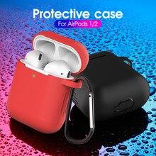 Silicone liquide souple Bluetooth sans fil étui pour écouteurs couverture de protection accessoires de peau pour Apple Airpods 1/2 boîte de charge