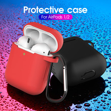 Soft Liquid Silicone Bluetooth Wireless Earphone Case Protective Cover Skin Accessories For Apple Airpods 1/2 Charging Box