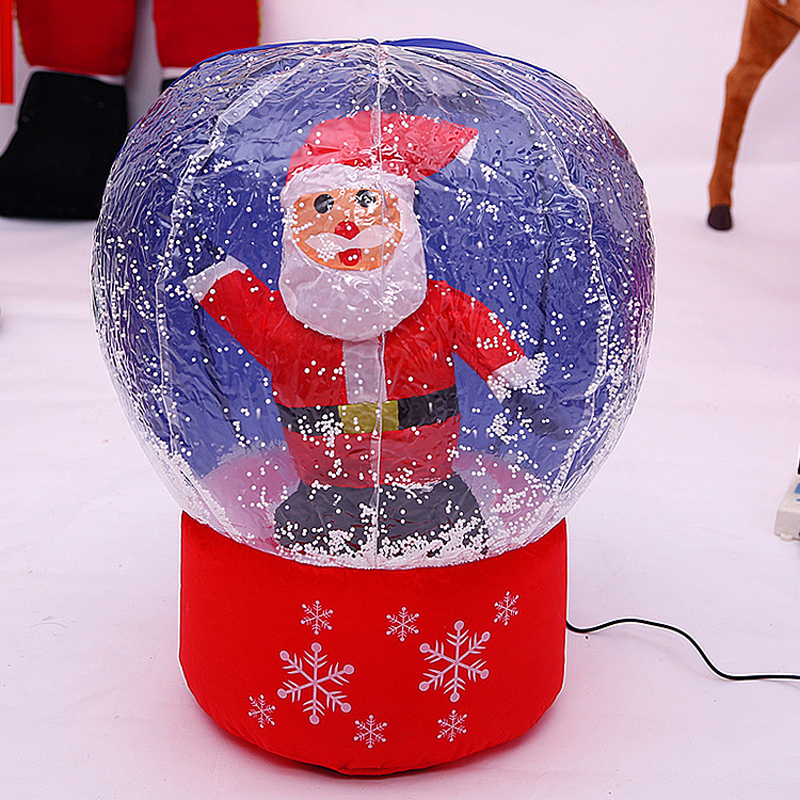 60cm 100cm Giant Christmas Tree Snow Globe Inflatable Led Toys Yard Outdoor Up Decoration Party Prop In Bouncers From