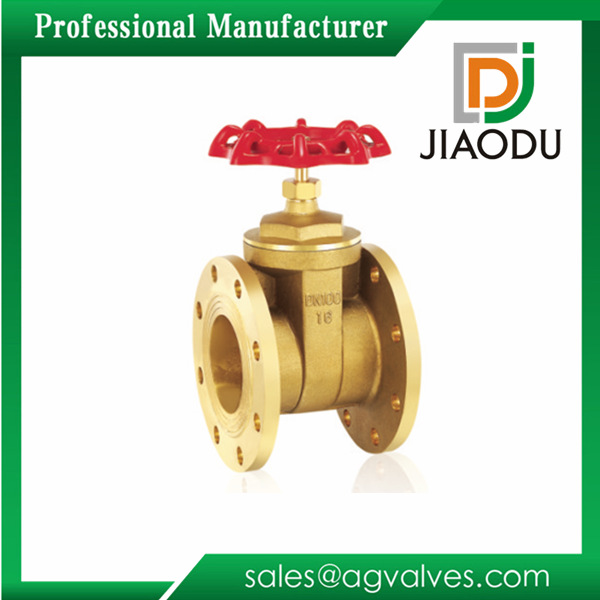 Yuhuan supply national standard brass project dedicated flange gate valve from the grant ...