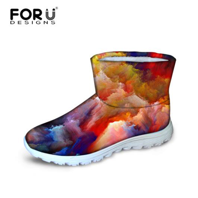 ФОТО FORUDESIGNS Quilted Women Winter Boots,Women's Fur Ankle Australia Snow Boots Big Size Winter Female Warm Short Platform Boots