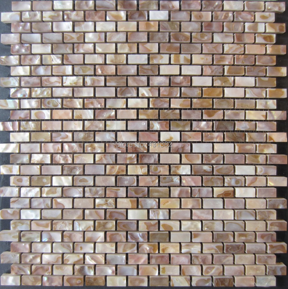 Wall tile buy cheap stone wall tile lots from china stone wall tile - Wholesale Natural Color Mother Of Pearl Shell Wall Mosaic Brick Tile For Interior Decoration China
