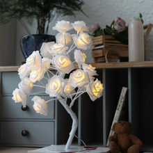 Events Parties Rose Tree LED garland Lights new Year decoration(China)