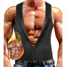 2019 New Fashion Neoprene Sleeveless Shirts Tank Top Men Fitness Shirt Man Singlet Bodybuilding Workout Exercise Gym Zipper Vest