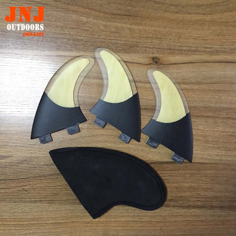 ФОТО FREE SHIPPING durable bamboo and carbon surfboard fin FCS G5 surf fin