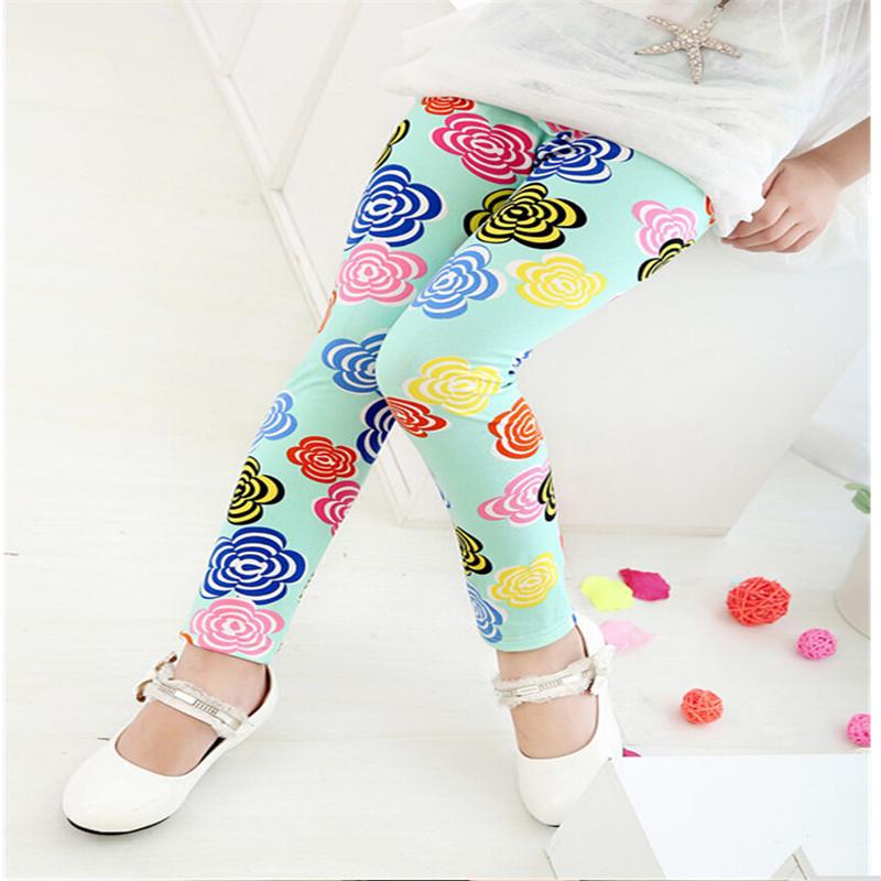 New Style Spring Autumn Children Leggings Flower Butterfly girls pants kids legging 21