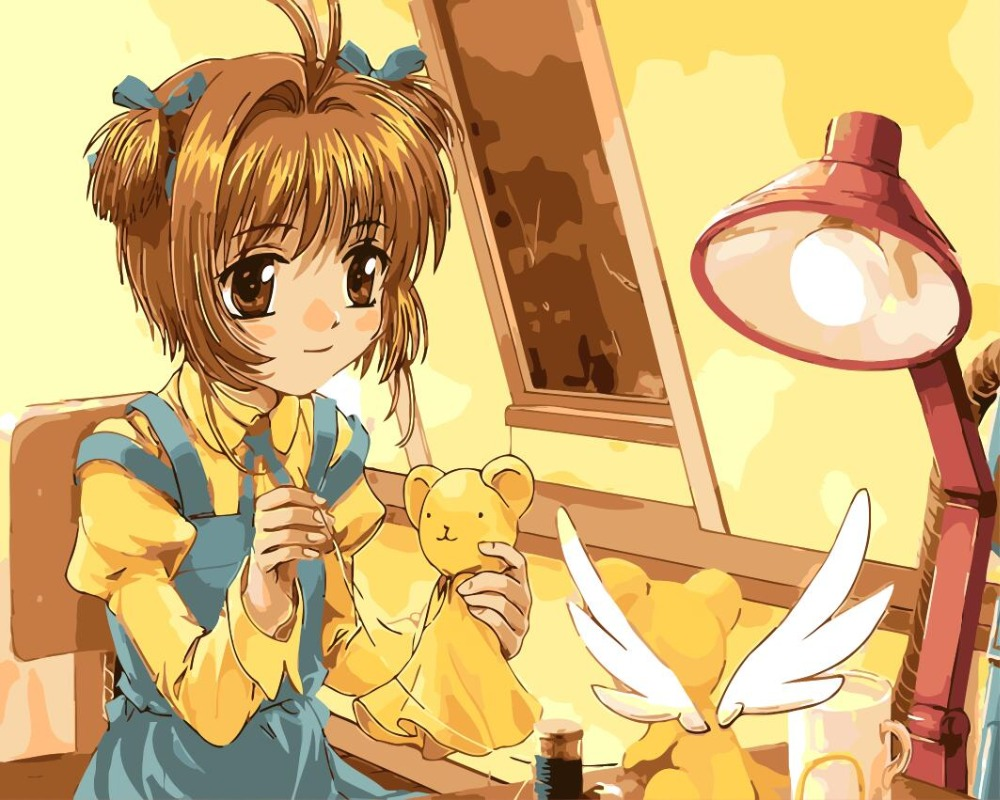 Cardcaptor Sakura Oil Painting pictures By Numbers Digital Pictures mermaid Coloring by hand Unique Gift for kidsHome Decoration