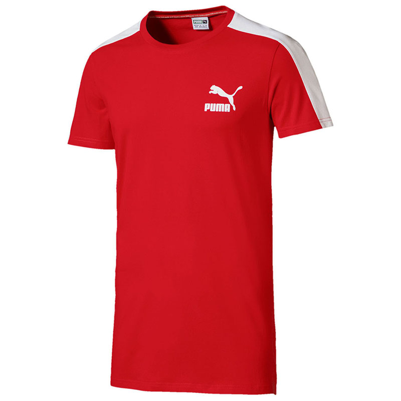 T-Shirt PUMA 57501542 sports and entertainment for men sport clothes v neck flower and bird print plus size short sleeve men s t shirt