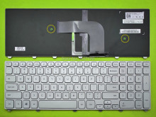 US Keyboard For Dell Inspiron 17 7000 Series 7737 SILVER FRAME SILVER Backlit,Win8 New Laptop Keyboards With Free Shipping(China)