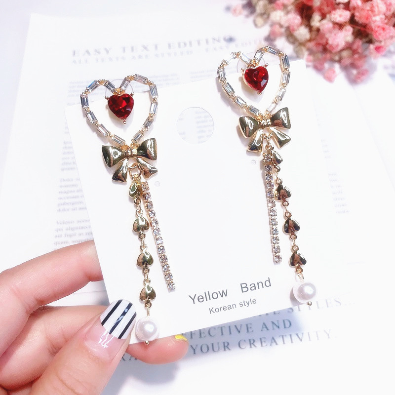 HTB1mWkjXvvsK1Rjy0Fiq6zwtXXal - 2019 New Hot Sale 20 Style Red Fashion Korean Elegant Geometric Dangle Earrings for Women Cute Pendant Mujer Jewelry