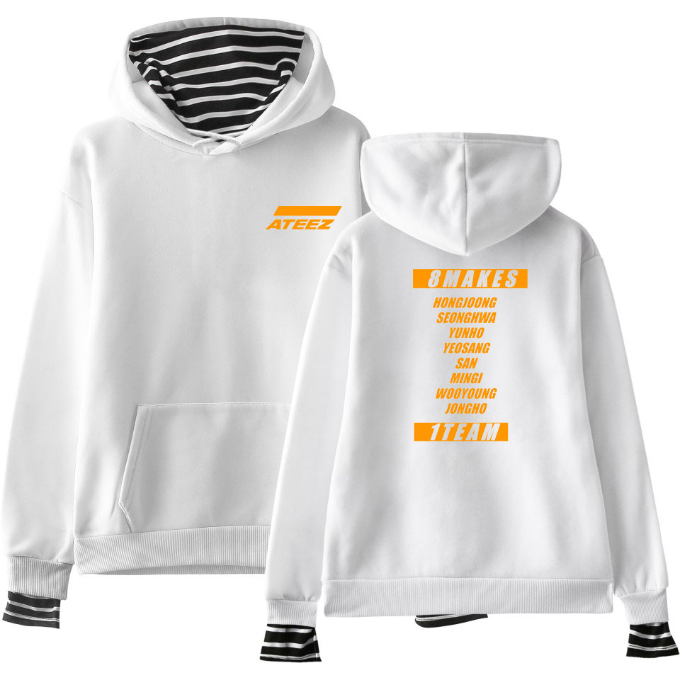 Hip Hop Hoodies ATEEZ Women 2019 Fashion Clothes Hot Sale Girl Hoodies Sweatshirts Youtu Kpop Casual Harajuku Tops PlusSize