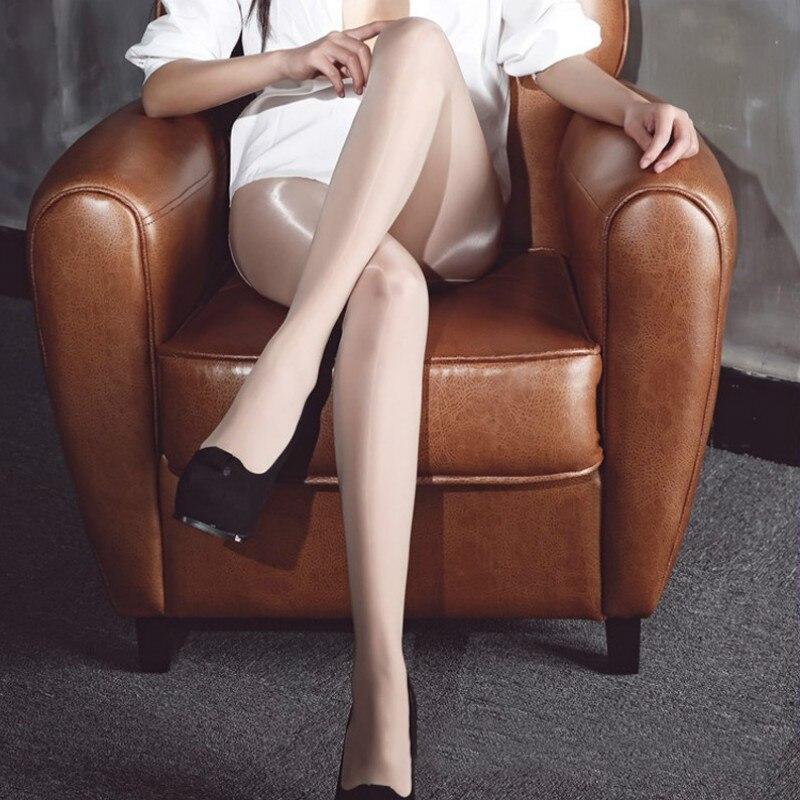 Women 8D super elastic magical stockings glitter tights anti hook sexy oil add-crotch Shiny pantyhose, shining Gloss hose,M-XXL