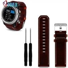Excelente calidad nuevo reloj correa de la banda de reemplazo correa de cuero de lujo 2 unid destornillador herramientas para garmin fenix 3 smart watch