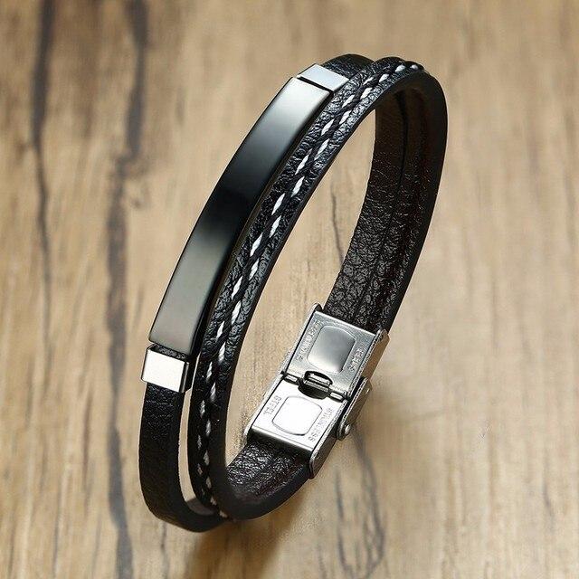 Vnox Multi Layer Leather...