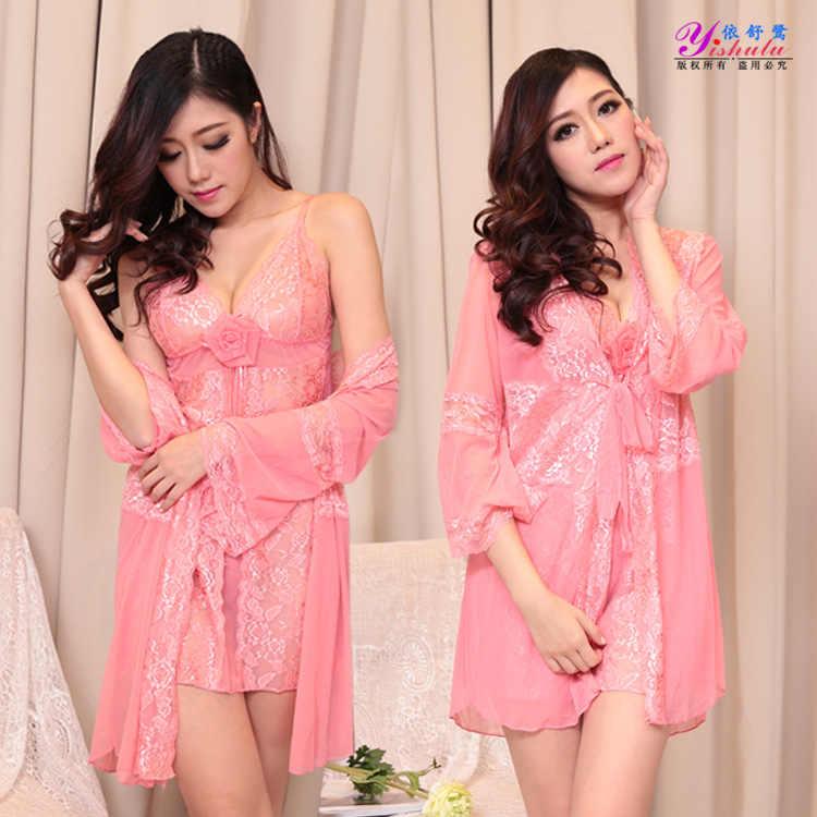 Alta elasticidade plus size rendas lingerie Sexy trajes mulheres nighty senhora chemise erotic/vestido exótico G-corda Babydoll