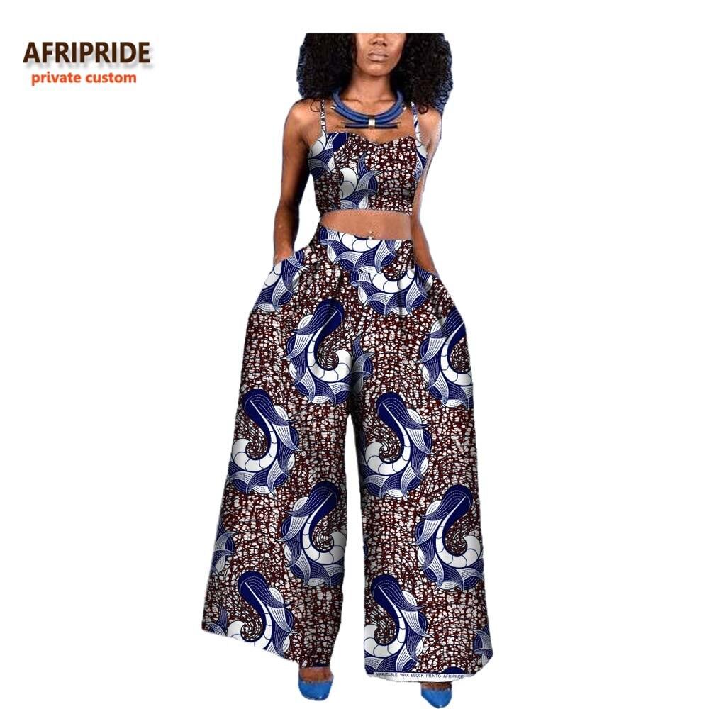 18 النساء 2 قطعة دعوى الأفريقي نمط AFRIPRIDE الخاص مخصص أكمام الرسن البنطال القصير + الكاحل طول واسعة بدل رجالي a722646-في مجموعات نسائية من ملابس نسائية على  مجموعة 1
