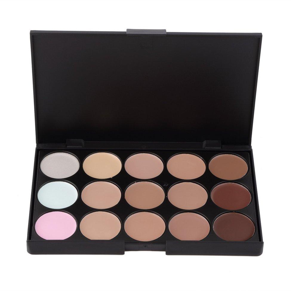 Pro Maquillage Ensemble 15 Couleur Correcteur Contour Palette + Maquillage Des Yeux Brosses Outil + Éponge Bouffée Cosmétique maquiagem Make Up kit
