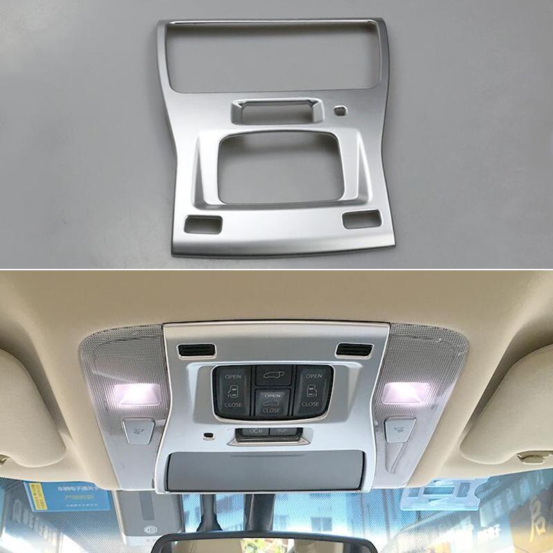 DEE Car Decoration Accessory for Toyota Alphard Vellfire 2015 2016 Reading Lamp Light ABS Chrome Trim Frame Sticker Refit Cover for land rover discovery sport abs chrome rear reading lamp frame cover trim for jaguar f pace f pace car styling 2pcs set