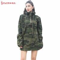 Loose Boyfriend Camouflage Denim jacket Female Long Sleeve Hooded Pullover Jean jacket long Coat Autumn jackets For women #9794