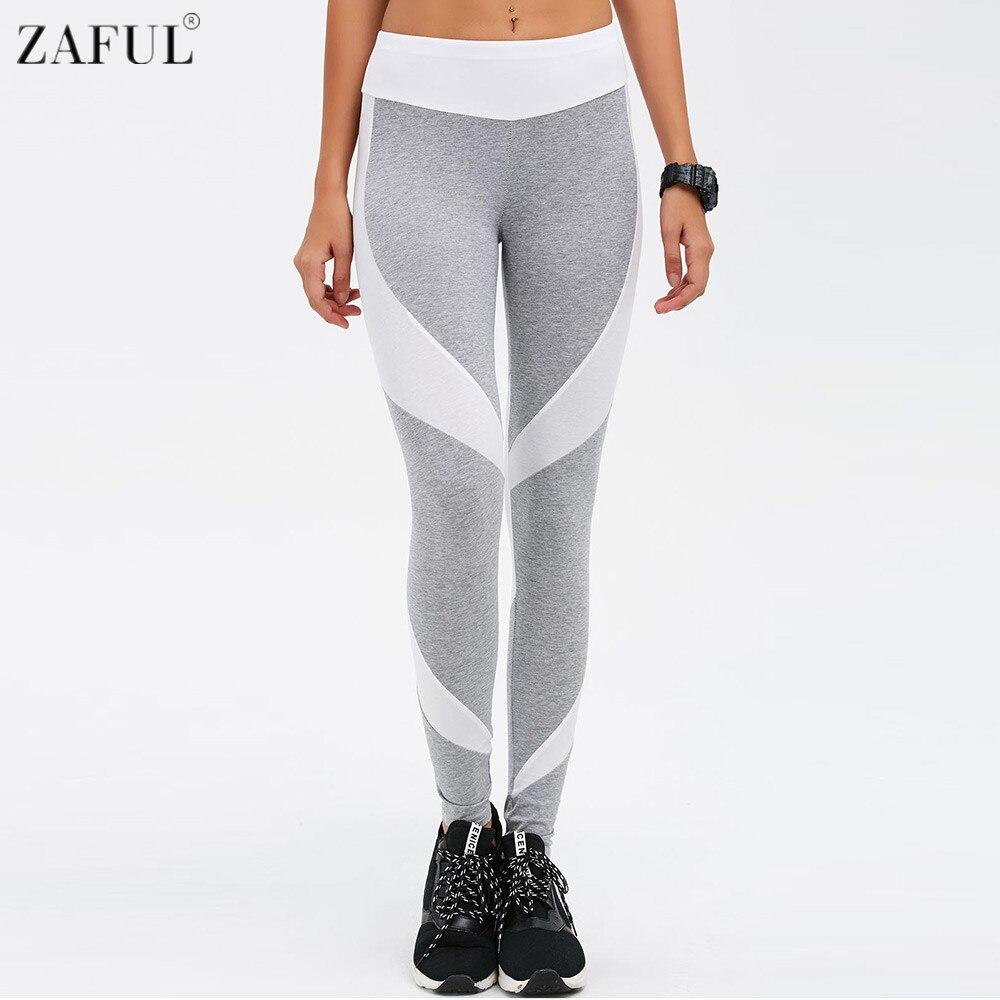 Prix pour ZAFUL 2017 Nouvelles Femmes Sport Yoga Pantalon Couleur Bloc Jogging Gym Courir Collants D'exercice Femmes Fitness Épissage Sportwear Pantalon