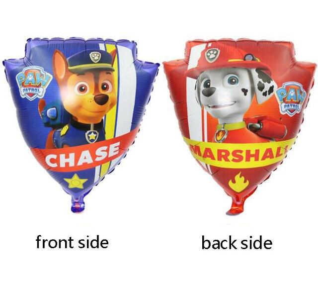 Хит, Paw Patrol, украшение на день рождения, фигурки, игрушки, Щенячий патруль, воздушные шары, вечерние, декор для комнаты, Чейз, Маршалл, баллон, детские игрушки для девочек - Цвет: A