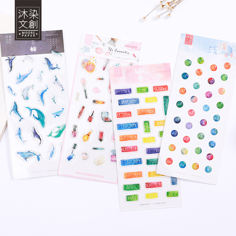 Creative Cute Animals Decorative Stickers For Phone Diary Sticker Scrapbook Decoration PVC Kawaii Stationery Stickers