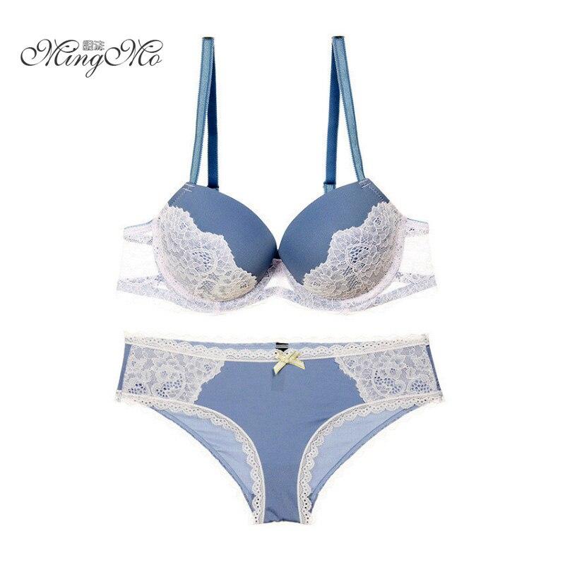 1760cdf4f0354 ... sujetador sexy conjuntos de sujetador de encaje sexy bordado empuje  hacia arriba el sujetador y las bragas para las mujeres conjunto de ropa  interior de ...
