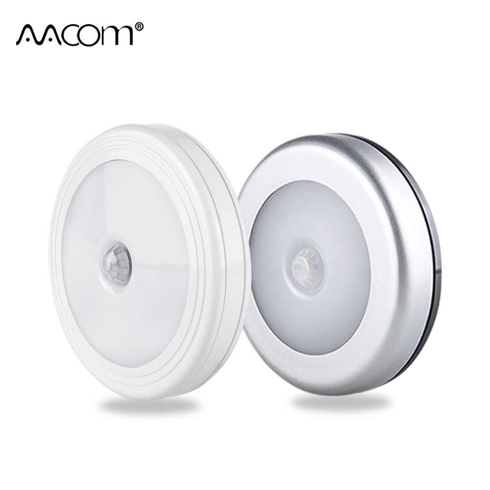 COB Motion Sensor ไฟ LED กลางคืนไร้สายตู้แม่เหล็กไฟแบตเตอรี่ Powered Closet ห้องนอน TOUCH Control โคมไฟ