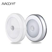 Cob sensor de movimento led luzes da noite luz gabinete magnético sem fio alimentado por bateria armário quarto controle toque lâmpada parede