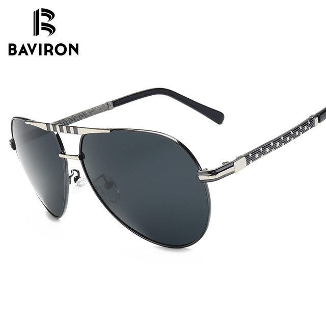 e064fe2182 BAVIRON Classic Vintage Polarized Aviator Sunglasses Men UV400 High Quality  Retro Oval Pilot Polaroid Sun Glasses