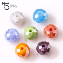 8MM Mix Color Rondelle Glass Beads Faceted Crystal Loose Make Beads for Jewelry Making Decoration 70pcs Lot Wholesale Z152