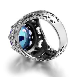 Image 4 - Szjinao Luxury Men Ring Real 925 Sterling Silver Rings For Women Gemstones Unisex Vintage Mens Jewellery Handmade Fine Jewelry