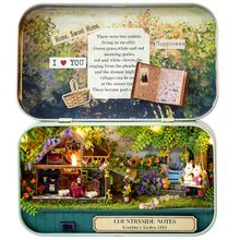 Mini Doll House Assemble Kits Funny Countryside Notes 3D Wooden DIY Handmade Box Theatre Dollhouse Miniature Box Cute Gift Toys(China)