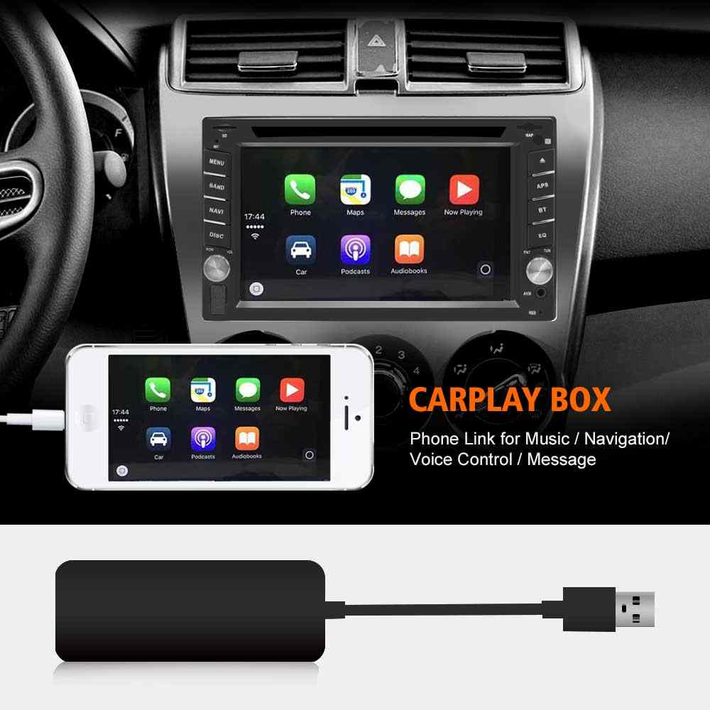 Mini 12V USB CarPlay Dongle For Android Car Navigation Music Player Auto  Vehicle Audio USB Connector With iOS Android Phone