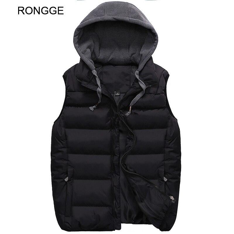 Рондж бренд Для мужчин S Вязаные Жилеты для женщин куртка с капюшоном зима Теплая куртка Для Мужчинs Вязаные Жилеты для женщин модные тверды... ...