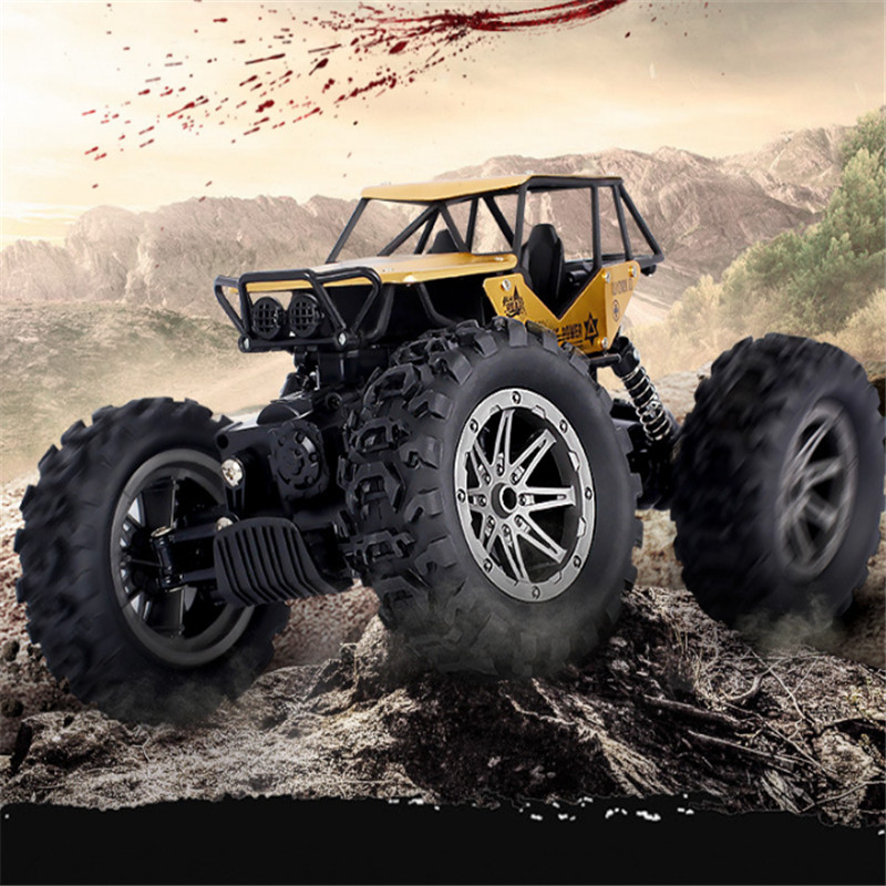 2018 New Third-generation Alloy Climbing Car Four-wheel Drive SUV Remote Control Car Big Foot RC Model Juguetes Brinquedos