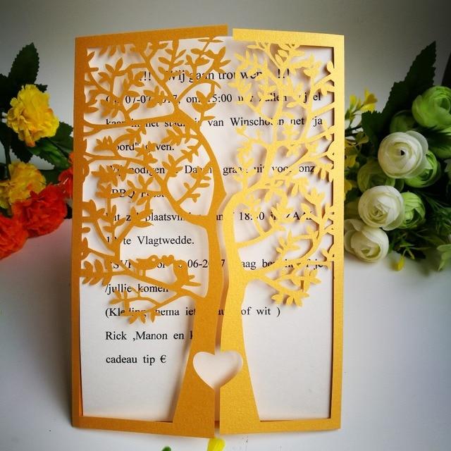 Carte Anniversaire Romantique.50 Pc De Mariage Invitations Carte Romantique D Anniversaire Carte