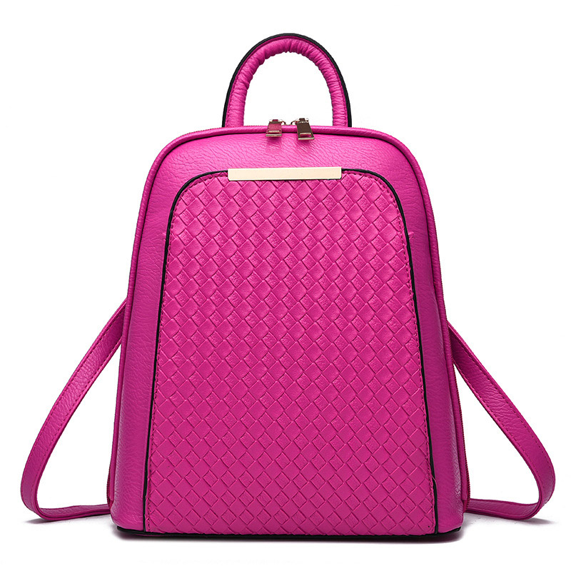 Women High Quality Pu Leather Travel Bag Backpack Shoulder Fashion Korean Back Bags for College Girls