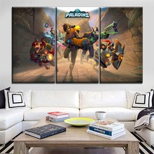 3 Pieces Game Paladins Hero Character Canvas Picture Modern Home Decorative Living Room Wall Art HD Printing Type On