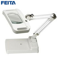 FEITA FT 86I Optical Transparent Glass Magnifier with LED Lamp Table Type Magnifying for Industrial ,Electronic DIY Repair