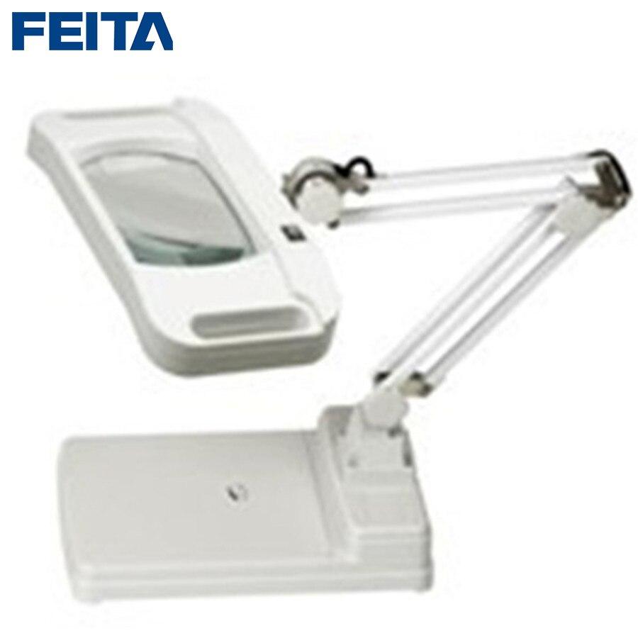 Feita ft 86i оптически прозрачный Стекло Лупа с светодиодный настольная лампа Тип увеличительное для промышленного, электронные DIY ремонт