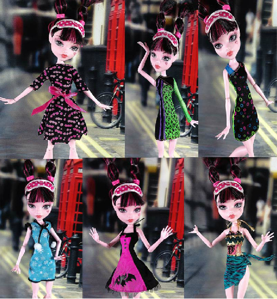 Free shipping Monster High Fashion Dress for Barbie Doll,Evening Dress Clothes Skirt