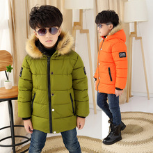 2016 new fashion kids boy winter coat for age 4 13 year children warm cotton jacket