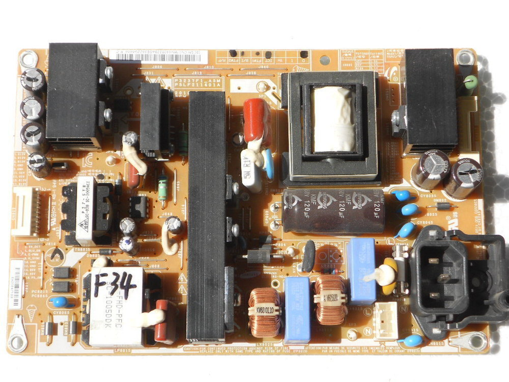 P3237F1-ASM PSLF211401A BN44-00339A BN44-00339A Power Board 100% Tested