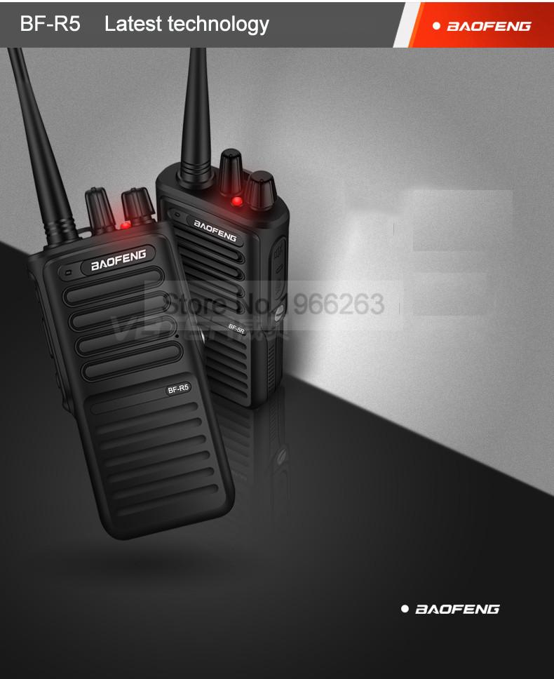 New Baofeng BF-R5 Professional Walkie Talkie 6W Portable Ham Two Way Radio  UHF 400-480MHz PTT Better Than BF-888S 1-10km 2PCS